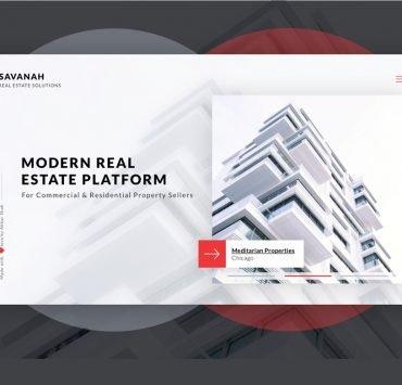 Savanah – Real Estate Website – Concept PSD