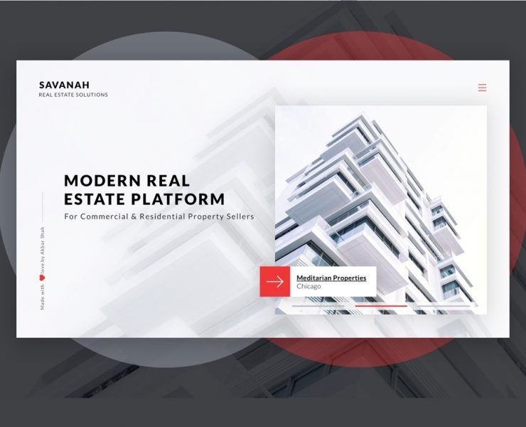 Savanah – Real Estate Website – Concept PSD