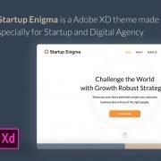 Startup Enigma - Adobe XD theme