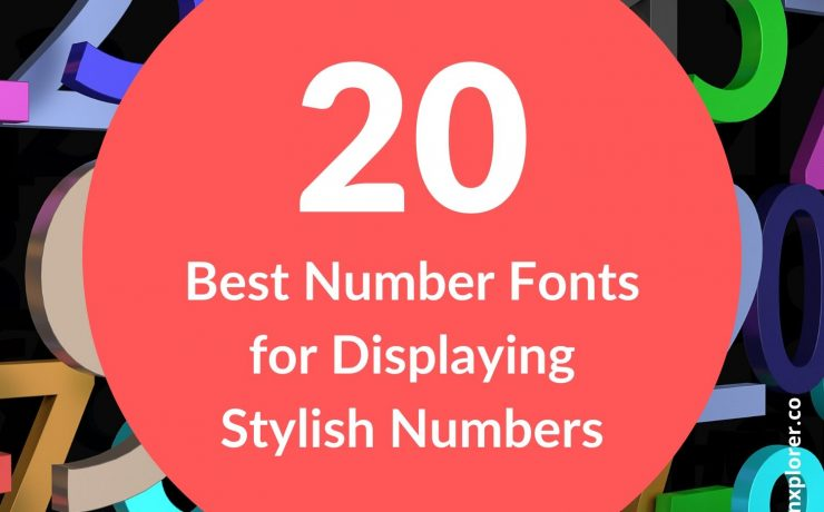 20 Best Number fonts for Displaying Stylish Numbers