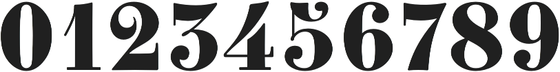 Best Number Fonts - Clement Numbers