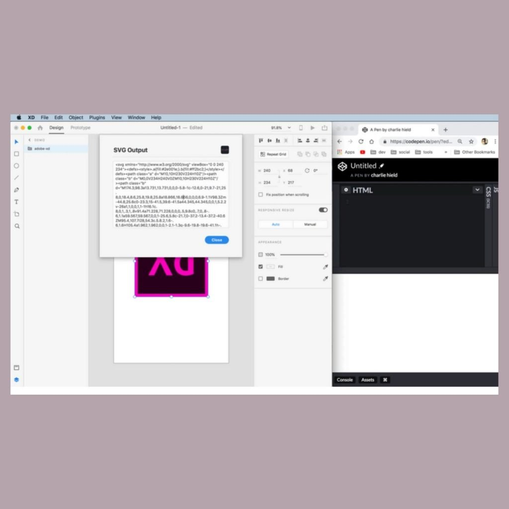 Most Useful Adobe XD Plugins for UX/UI Designers - Copy SVG Code