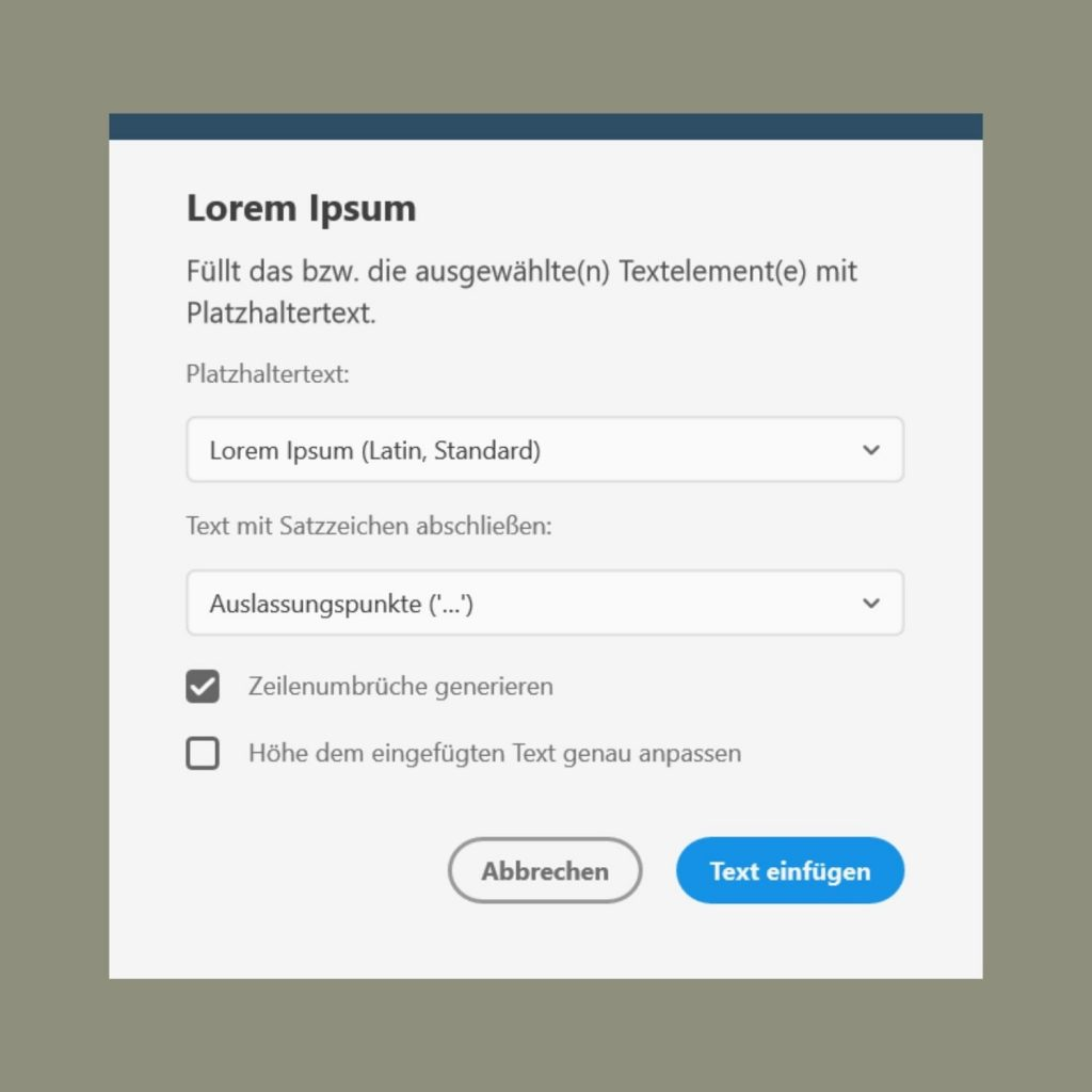 Most Useful Adobe XD Plugins for UX/UI Designers - Lorem Ipsum Plugin