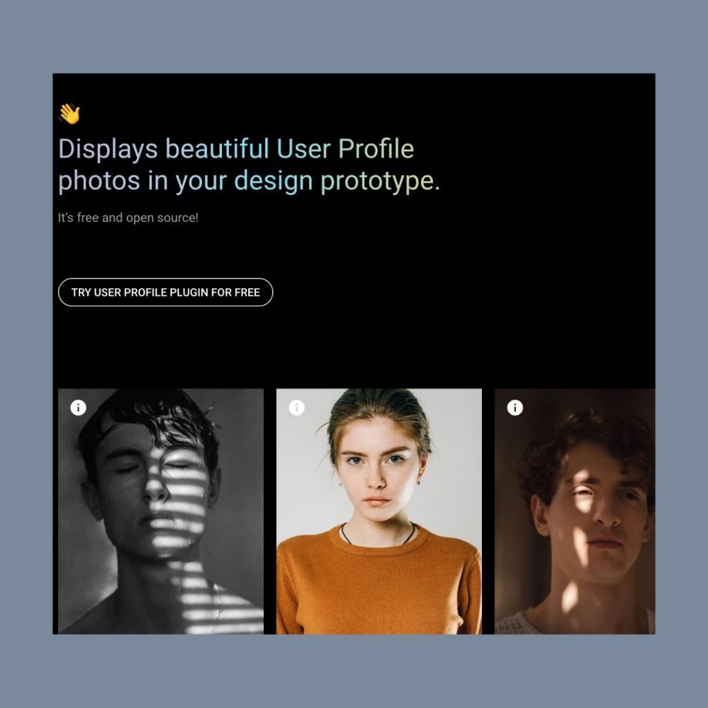 Most Useful Adobe XD Plugins for UX/UI Designers - User Profile Plugin