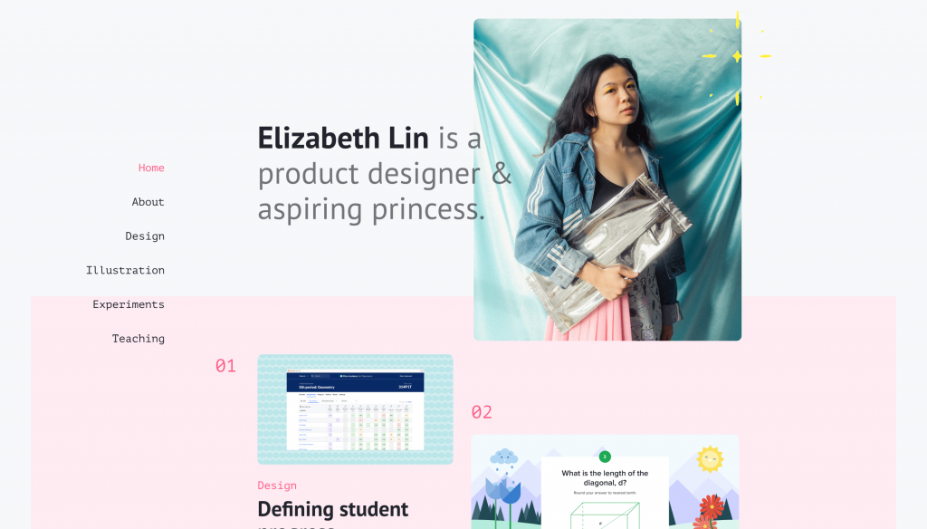 www.elizabethylin.com- Best UX Portfolio Website