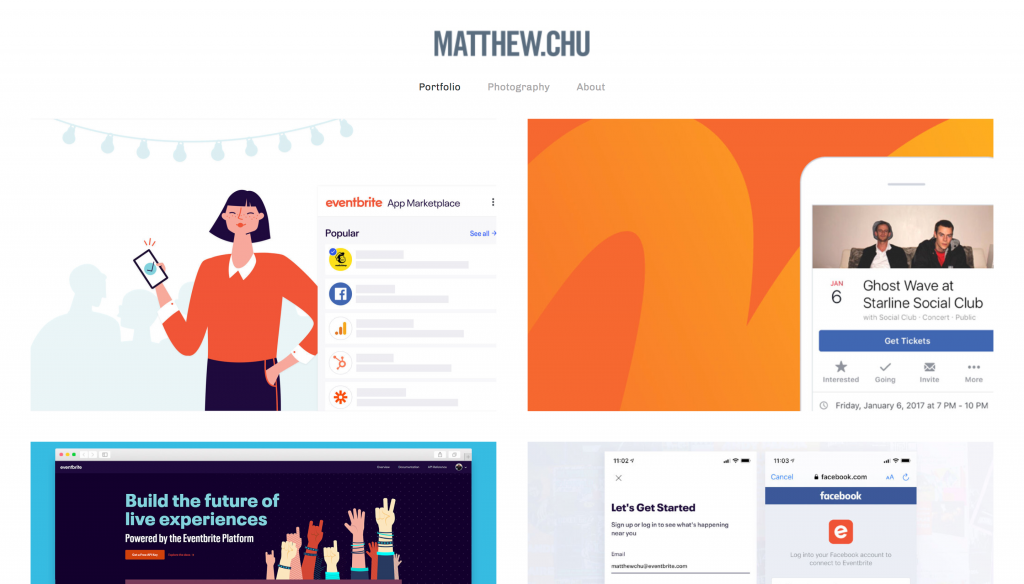 www.mattchudesign.com - Best UX Portfolio Website