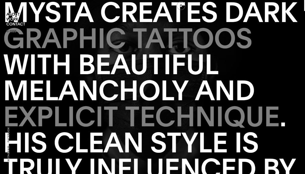 Mystaelectric.com -  A Tattoo Artist's Website - About Section