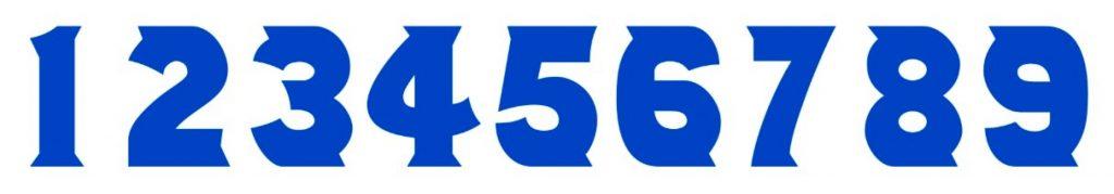 Best Stylish Number Font - Number 514 Font