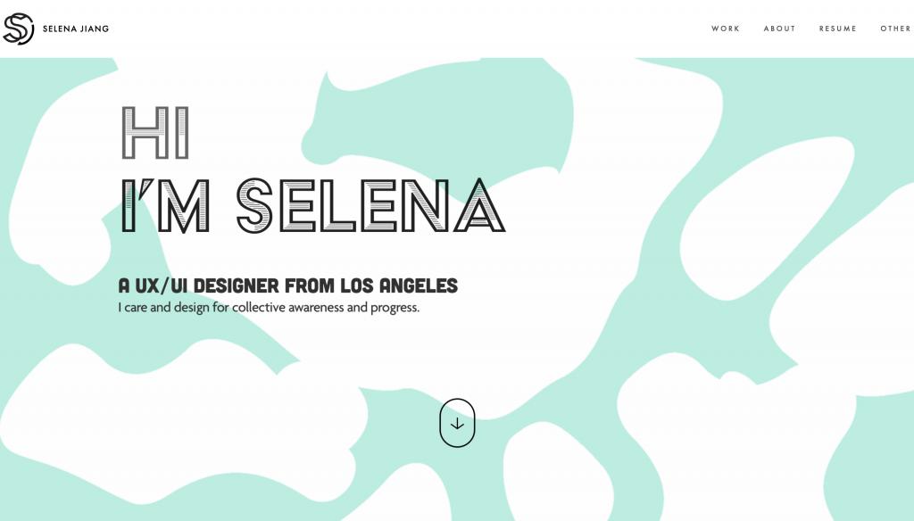 www.hiselena.com- Best UX Portfolio Website