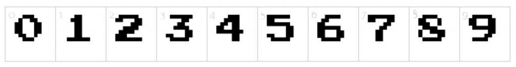 Best Number Fonts - Press Start 2P