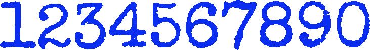 Best Number Fonts - Special Elite