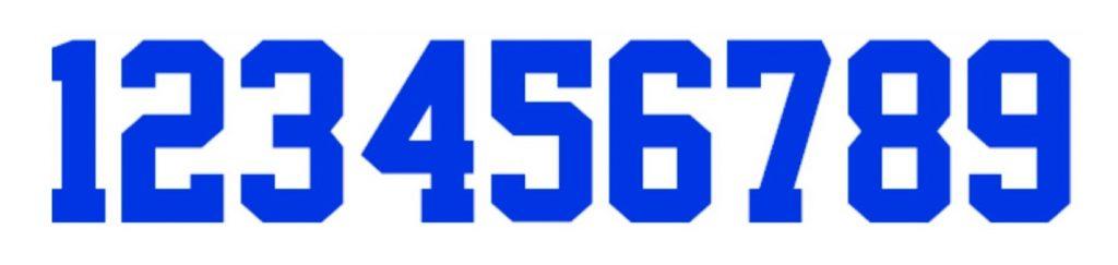 Best Stylish Number Font - Superstar M54 Font