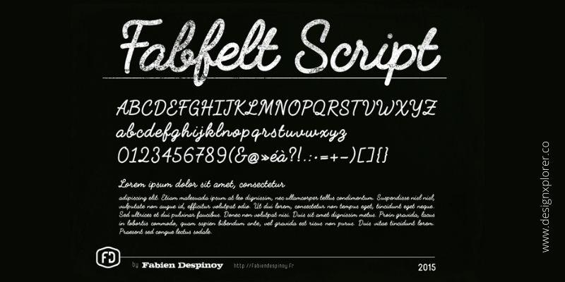 Best Cursive Fonts - Fabfelt Script