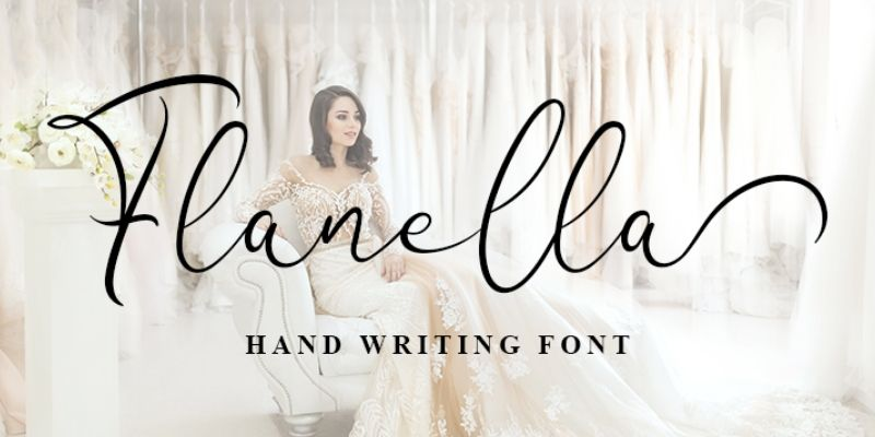Best Cursive Fonts - Flanella Font