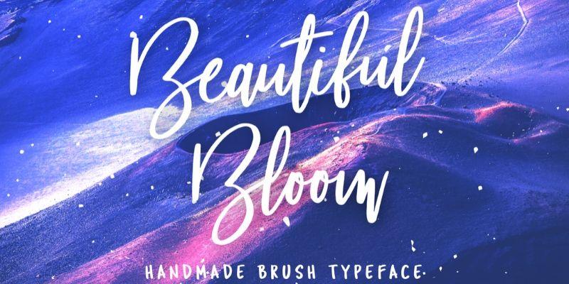 Best Cursive Fonts - Beautiful Bloom Font