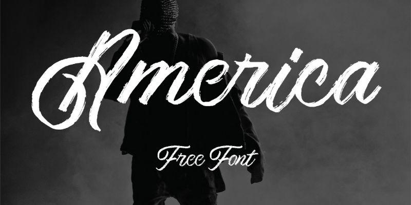 Best Cursive Fonts - America Font