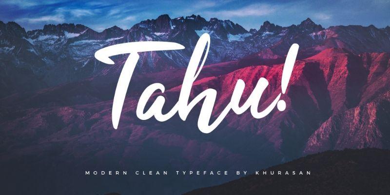Best Cursive Fonts - Tahu Font