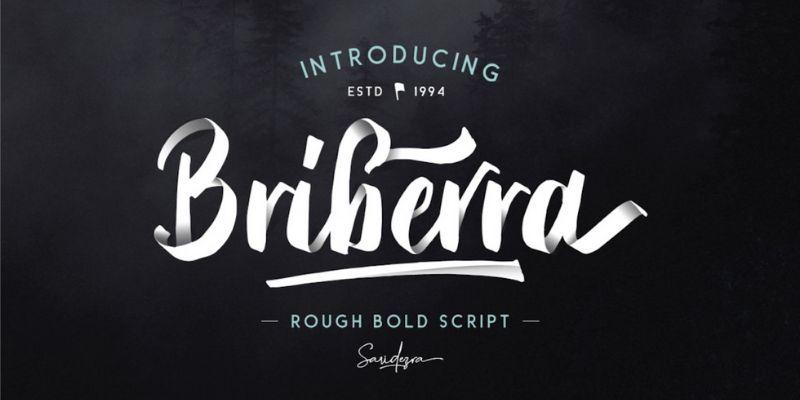 Best Cursive Fonts - Bribera  Font