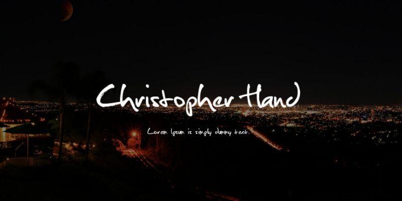Best Cursive Fonts - Christopher Hand  Font