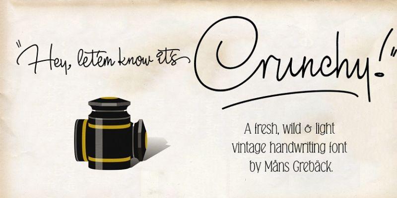 Best Cursive Fonts - Crunchy Font
