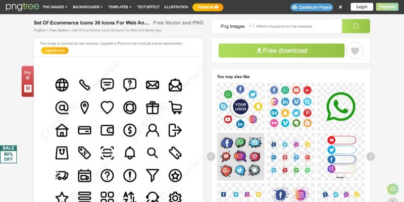pngtree - Best Websites to Download Icons