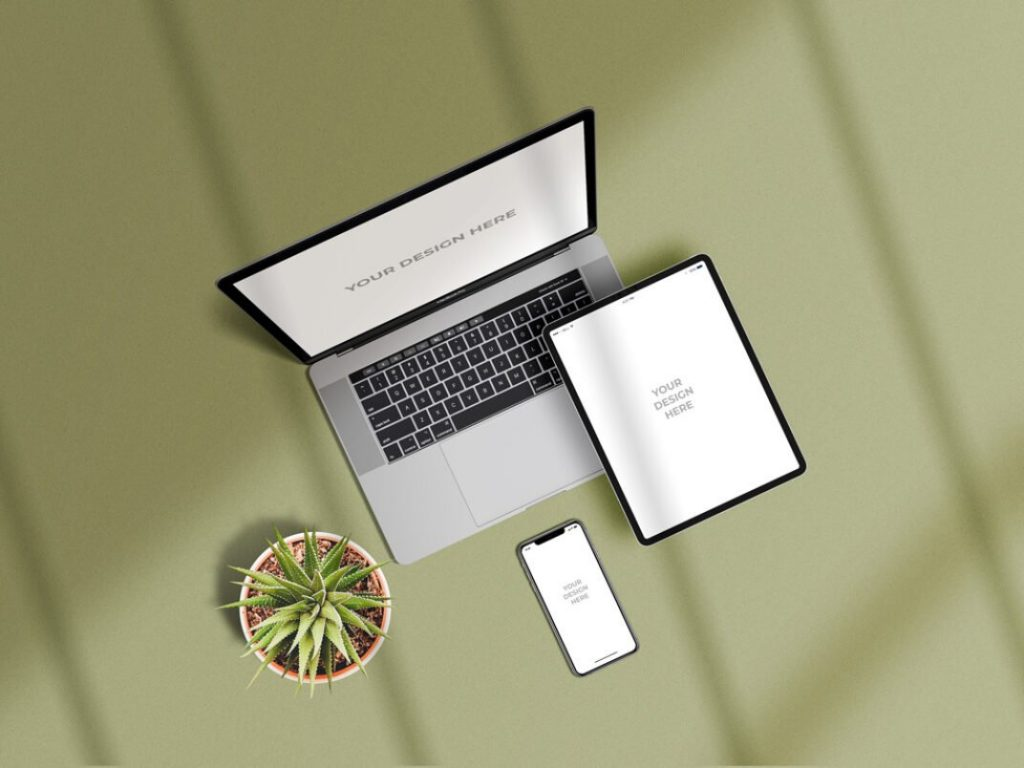 Apple Devices Showcase Mockup