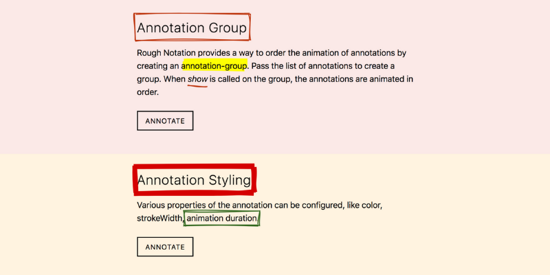 Rough Notation -  JavaScript library to create and animate annotations