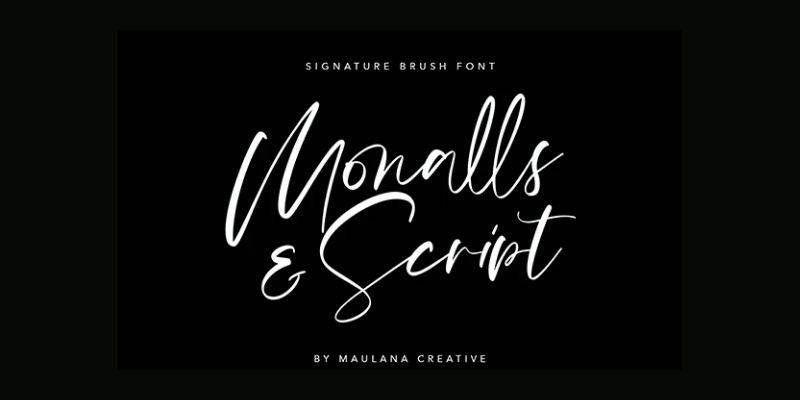 Monalls Script Signature Brush Font