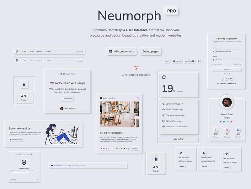 Neumorphism UI - Neumorphism inspired User Interface Kit
