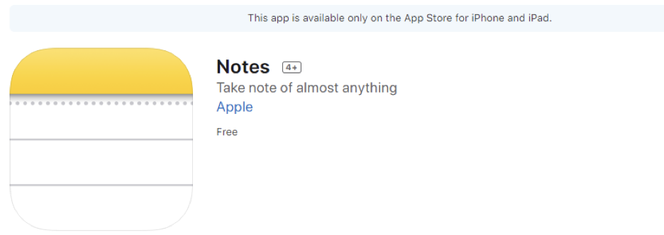 Apple's Notes