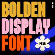 Bolden Display Free Font