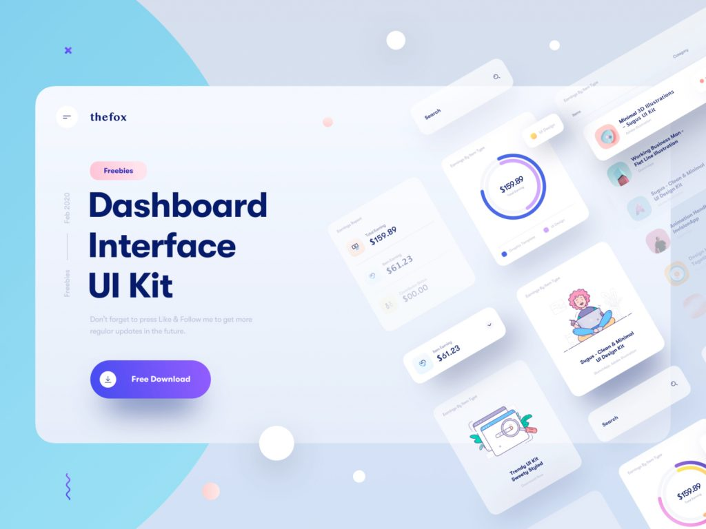 Dashboard Interface UI Kit for Sketch