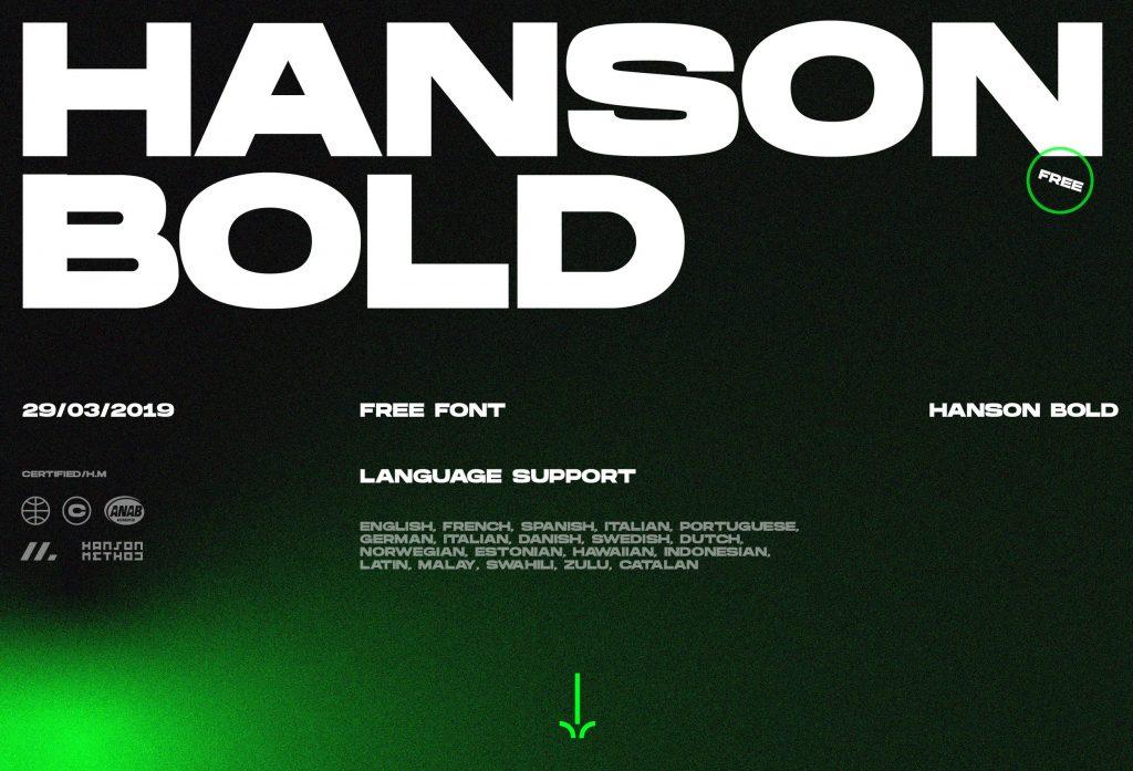 HANSON BOLD (FREE FONT)
