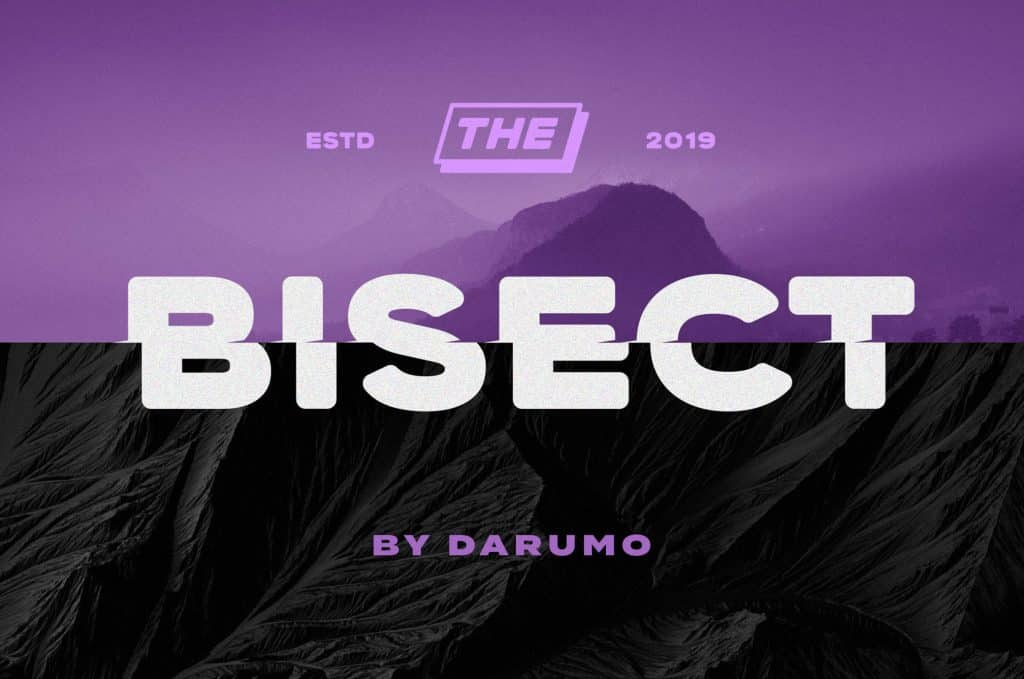 Bisect Shifted Display - Free Font