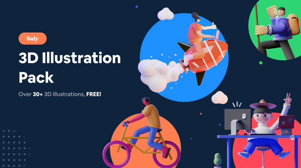 Free 3D Illustration Pack