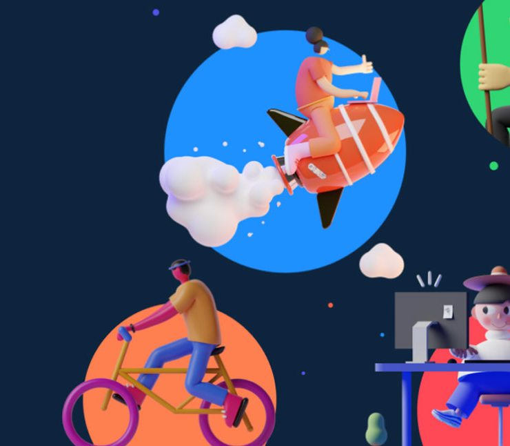 Free 3D Illustration Pack for Figma