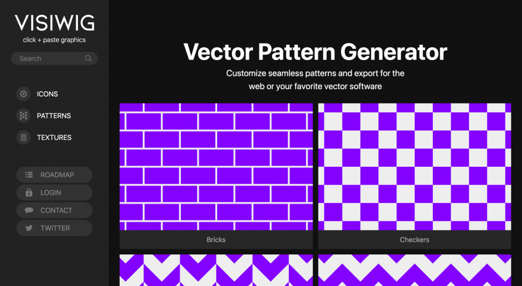 Visiwig - Vector Pattern Generator
